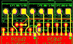 Peelable mask pcb layout design and manufacturing