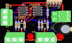 printed circuit board pcb layout design from electronic circuit or idea