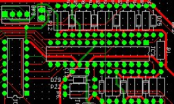 Through hole printed circuit board layout design and assembly