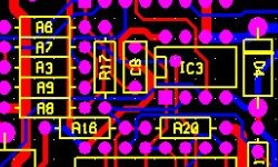 Yellow silk screen pcb layout design and prototype manufacturing